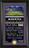 Baltimore Ravens House Rules Supreme Bronze Coin Photo Mint
