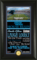Carolina Panthers House Rules Supreme Bronze Coin Photo Mint