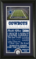 Dallas Cowboys House Rules Supreme Minted Coin Photo Mint
