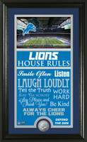 Detroit Lions House Rules Supreme Minted Coin Photo Mint