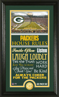 Green Bay Packers House Rules Supreme Bronze Coin Photo Mint