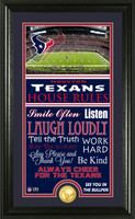 Houston Texans House Rules Supreme Bronze Coin Photo Mint