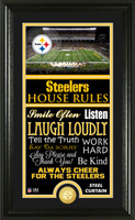 Pittsburgh Steelers House Rules Supreme Bronze Coin Photo Mint