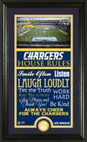 Los Angeles Chargers House Rules Supreme Bronze Coin Photo Mint