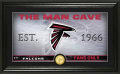 "Atlanta Falcons ""Man Cave"" Panoramic Bronze Coin Photo Mint"
