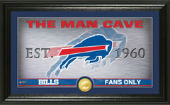 "Buffalo Bills ""Man Cave"" Panoramic Bronze Coin Photo Mint"