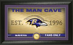 "Baltimore Ravens ""Man Cave"" Panoramic Bronze Coin Photo Mint"