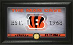 "Cincinnati Bengals ""Man Cave"" Panoramic Bronze Coin Photo Mint"