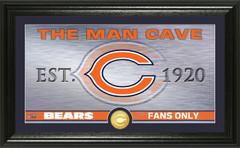 "Chicago Bears ""Man Cave"" Panoramic Bronze Coin Photo Mint"