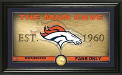 "Denver Broncos ""Man Cave"" Panoramic Bronze Coin Photo Mint"