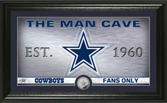 "Dallas Cowboys ""Man Cave"" Panoramic Minted Coin Photo Mint"