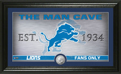 """Detroit Lions """"Man Cave"""" Panoramic Minted Coin Photo Mint"""