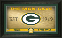 """Green Bay Packers """"Man Cave"""" Panoramic Bronze Coin Photo Mint"""