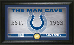 "Indianapolis Colts ""Man Cave"" Panoramic Bronze Coin Photo Mint"