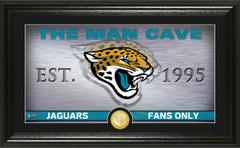 "Jacksonville Jaguars ""Man Cave"" Panoramic Bronze Coin Photo Mint"