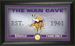 "Minnesota Vikings ""Man Cave"" Panoramic Bronze Coin Photo Mint"