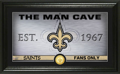 "New Orleans Saints ""Man Cave"" Panoramic Bronze Coin Photo Mint"