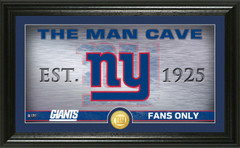 """New York Giants """"Man Cave"""" Panoramic Bronze Coin Photo Mint"""