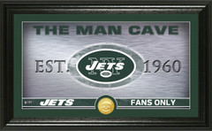 "New York Jets ""Man Cave"" Panoramic Bronze Coin Photo Mint"