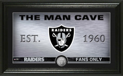 "Raiders ""Man Cave"" Panoramic Minted Coin Photo Mint"