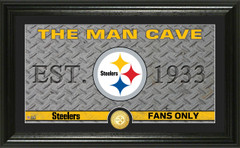 """Pittsburgh Steelers """"Man Cave"""" Panoramic Bronze Coin Photo Mint"""