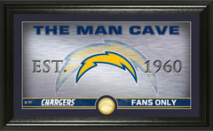 "Los Angeles Chargers ""Man Cave"" Panoramic Bronze Coin Photo Mint"