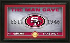 "San Francisco 49ers ""Man Cave"" Panoramic Bronze Coin Photo Mint"