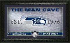 """Seattle Seahawks """"Man Cave"""" Panoramic Minted Coin Photo Mint"""