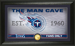 """Tennessee Titans """"Man Cave"""" Panoramic Bronze Coin Photo Mint"""