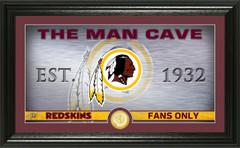 "Washington Redskins ""Man Cave"" Panoramic Bronze Coin Photo Mint"