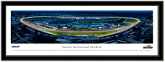 Daytona International Speedway Night Race Framed Panoramic Picture