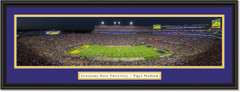 LSU Tiger Football Stadium Framed Panoramic Picture