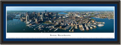 Boston, Massachusetts City Skyline Framed Panorama