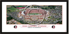 Home of the Seminoles Doak Campbell Stadium Framed Panoramic Print