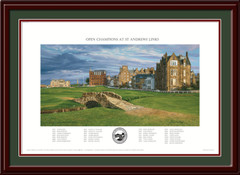 2015 Open Championship Poster 18th Hole St Andrews Framed Print