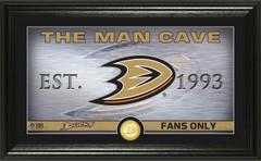 Anaheim Ducks Man Cave Panoramic Bronze Coin Photo Mint