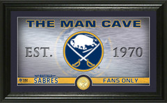 Buffalo Sabres Man Cave Panoramic Bronze Coin Photo Mint