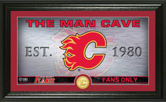 Calgary Flames Man Cave Panoramic Bronze Coin Photo Mint