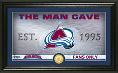 Colorado Avalanche Man Cave Panoramic Bronze Coin Photo Mint