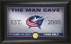 Columbus Blue Jackets Man Cave Panoramic Bronze Coin Photo Mint