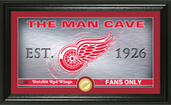 Detroit Red Wings Man Cave Panoramic Bronze Coin Photo Mint