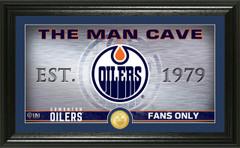 Edmonton Oilers Man Cave Panoramic Bronze Coin Photo Mint