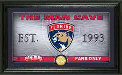 Florida Panthers Man Cave Panoramic Bronze Coin Photo Mint