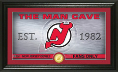 New Jersey Devils Man Cave Panoramic Bronze Coin Photo Mint