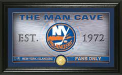 New York Islanders Man Cave Panoramic Bronze Coin Photo Mint