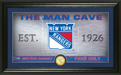 New York Rangers Man Cave Panoramic Bronze Coin Photo Mint