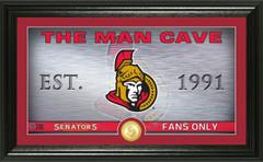 Ottawa Senators Man Cave Panoramic Bronze Coin Photo Mint