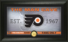 Philadelphia Flyers Man Cave Panoramic Bronze Coin Photo Mint