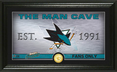 San Jose Sharks Man Cave Panoramic Bronze Coin Photo Mint