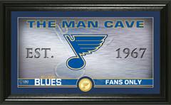 St. Louis Blues Man Cave Panoramic Bronze Coin Photo Mint
